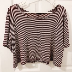 american eagle soft and sexy crop tee